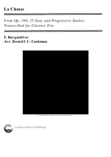 No.9 La Chasse: For clarinet trio by Johann Friedrich Burgmüller