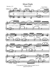 Silent Night, for Piano: para um único musico (Editado por H. Bulow) by Franz Xaver Gruber