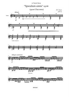 Speculum annis (quasi Chaconna), Op.66: Speculum annis (quasi Chaconna) by Mihajlo Vihula