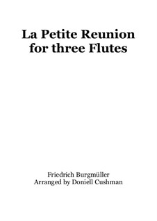 No.4 La Petite Réunion (Festive Gathering): For flute trio by Johann Friedrich Burgmüller