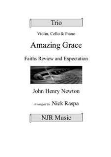 Amazing Grace: para trio de pianos by folklore