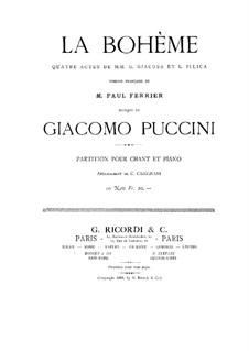 Complete Opera: Partitura Piano-vocal by Giacomo Puccini