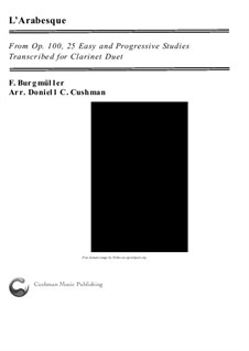 No.2 Arabesque: For clarinet duo by Johann Friedrich Burgmüller