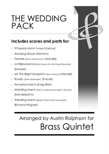 The Wedding Pack - brass quintet book / bundle: The Wedding Pack - brass quintet book / bundle by Thomas Augustine Arne, folklore, John Stainer, William Henry Monk, John Goss, John Bacchus Dykes, Conrad Kocher