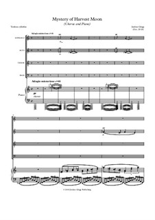 Mystery of Harvest Moon (Chorus and Piano): Mystery of Harvest Moon (Chorus and Piano) by Jordan Grigg