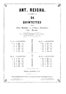 Woodwind Quintet in B Flat Major, Op.100 No.6: parte clarinete by Anton Reicha