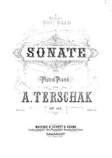 Sonata No.1 in D Major for Flute and Piano, Op.168: parte Solo by Adolf Terschak