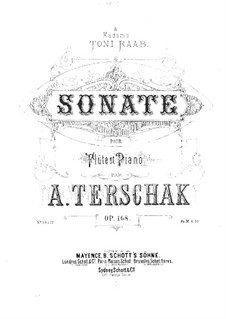 Sonata No.1 in D Major for Flute and Piano, Op.168: partitura by Adolf Terschak