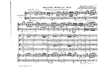Mass No.16 in C Major (Missa solemnis), K.337: Para vozes e órgão by Wolfgang Amadeus Mozart