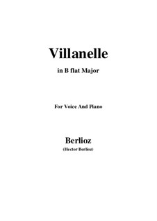 Les nuits d'été (Summer Nights),  H.81 Op.7: No.1 Villanelle (B flat Major) by Hector Berlioz