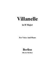 Les nuits d'été (Summer Nights),  H.81 Op.7: No.1 Villanelle (B Major) by Hector Berlioz