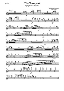 Symphonic Picture 'The Tempest': partes by Alexander Alyabyev