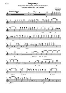 The Apostate. Overture: partes by Alexander Alyabyev