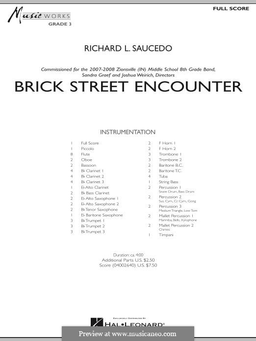 Brick Street Encounter: partitura completa by Richard L. Saucedo