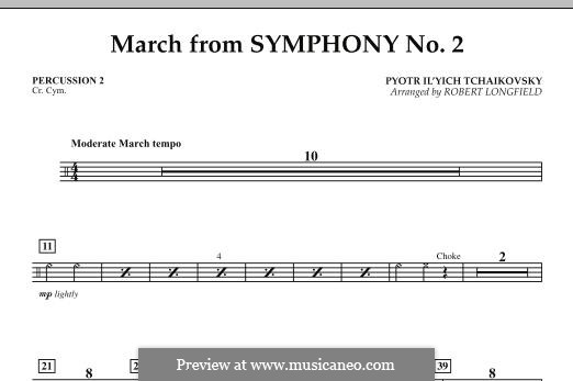 Movement II: Percussion 2 part by Pyotr Tchaikovsky