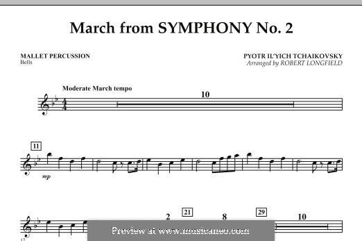Movement II: Mallet Percussion part by Pyotr Tchaikovsky