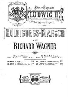 Homage March, WWV 97: dois pianos de quatro mãos by Richard Wagner