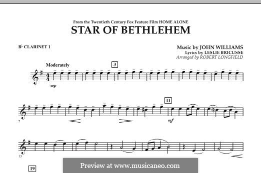 The Star of Bethlehem (from 'Home Alone'): Bb Clarinet 1 part by John Williams