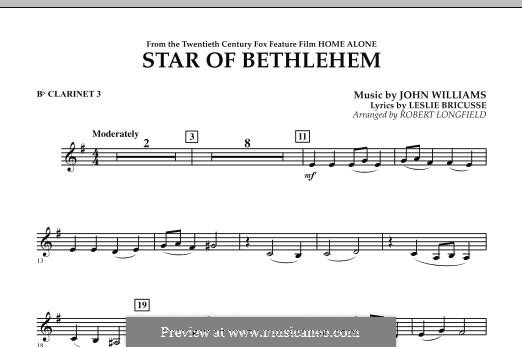 The Star of Bethlehem (from 'Home Alone'): Bb Clarinet 3 part by John Williams