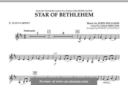 The Star of Bethlehem (from 'Home Alone'): Eb Alto Clarinet part by John Williams