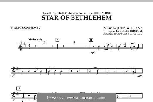 The Star of Bethlehem (from 'Home Alone'): Eb Alto Saxophone 2 part by John Williams