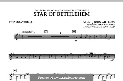 The Star of Bethlehem (from 'Home Alone'): Bb Tenor Saxophone part by John Williams