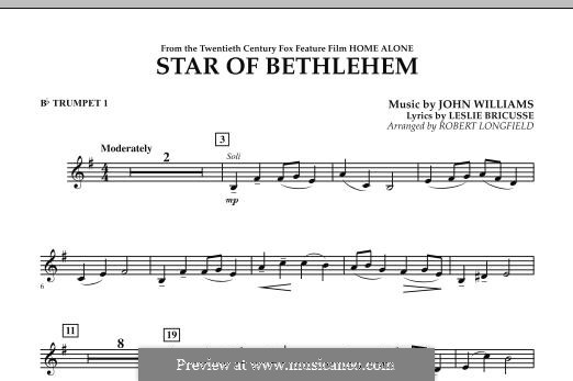 The Star of Bethlehem (from 'Home Alone'): Bb Trumpet 1 part by John Williams