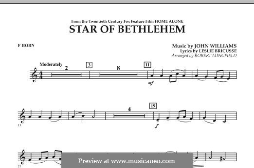 The Star of Bethlehem (from 'Home Alone'): F Horn part by John Williams