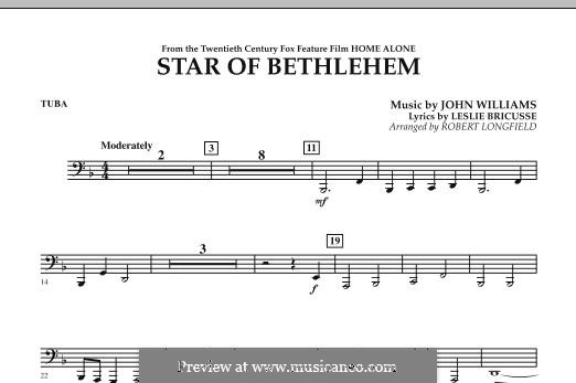 The Star of Bethlehem (from 'Home Alone'): Tuba, partes by John Williams