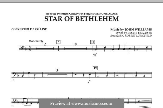 The Star of Bethlehem (from 'Home Alone'): Convertible Bass Line part by John Williams