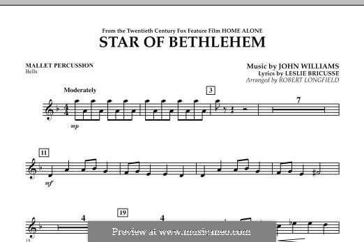 The Star of Bethlehem (from 'Home Alone'): Mallet Percussion part by John Williams