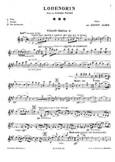 Fragments: Para trio de piano - parte de violino by Richard Wagner