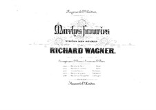 Grand March: para dois pianos para oito mãos - piano parte I by Richard Wagner