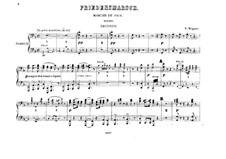 Rienzi, the Last of the Tribunes, WWV 49: Marche de paix, for two pianos eight hands – piano II part by Richard Wagner