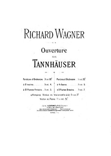 Fragments: Overture, for two pianos four hands – piano I part by Richard Wagner
