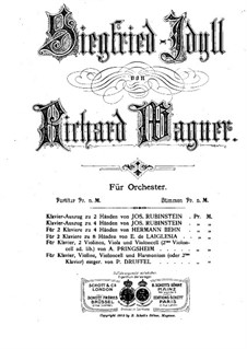 Siegfried Idyll, WWV 103: dois pianos de quatro mãos by Richard Wagner