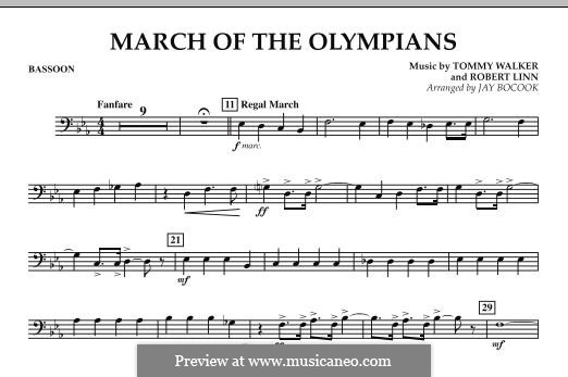 March of The Olympians: parte fagote by Tommy Walker, Robert Linn