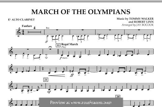 March of The Olympians: Eb Alto Clarinet part by Tommy Walker, Robert Linn
