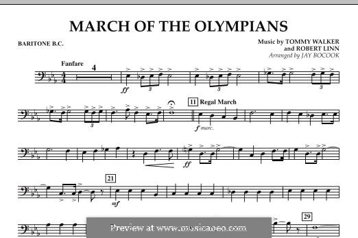March of The Olympians: Baritone B.C. part by Tommy Walker, Robert Linn