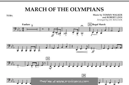 March of The Olympians: Tuba, partes by Tommy Walker, Robert Linn