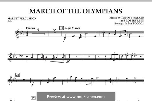 March of The Olympians: Mallet Percussion part by Tommy Walker, Robert Linn