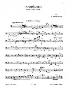 Fragments: For piano trio – double bass part (ad libitum) by Richard Wagner
