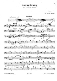 Fragments: For piano trio – cello part (ad libitum) by Richard Wagner