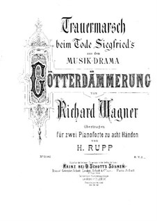 Twilight of the Gods, WWV 86d: Funeral March, for two pianos eight hands – piano II part by Richard Wagner