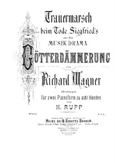 Twilight of the Gods, WWV 86d: Funeral March, for two pianos eight hands – piano I part by Richard Wagner