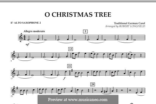 O Christmas Tree, for Orchestra: Eb Alto Saxophone 2 part by folklore