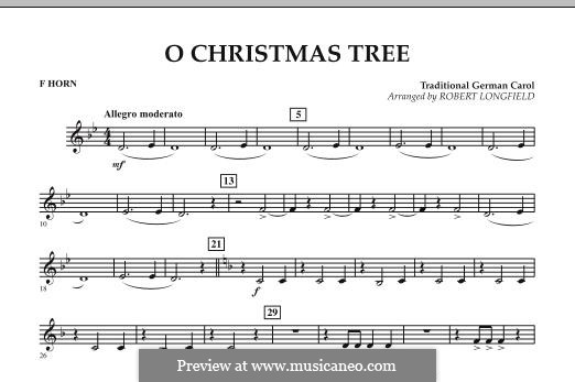 O Christmas Tree, for Orchestra: F Horn part by folklore