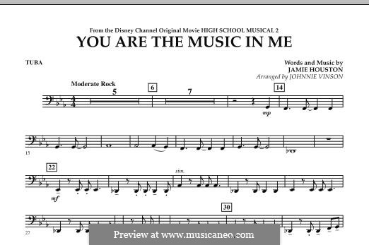 You are the Music in Me (High School Musical 2): Tuba, partes by Jamie Houston