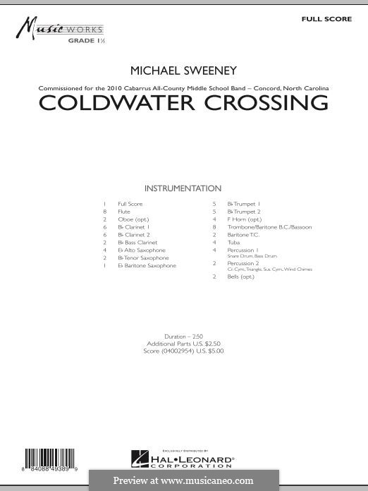 Coldwater Crossing: partitura completa by Michael Sweeney