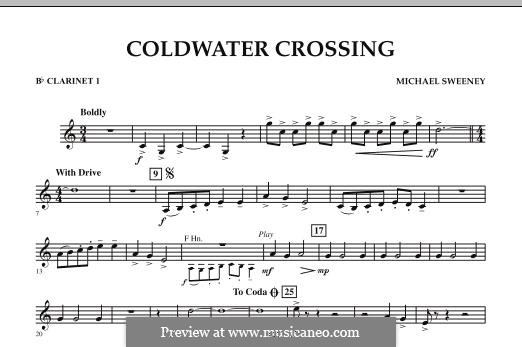 Coldwater Crossing: Bb Clarinet 1 part by Michael Sweeney